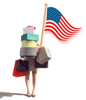 Presidents day patriotic shopping