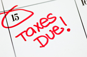 Tax day taxes due April 15
