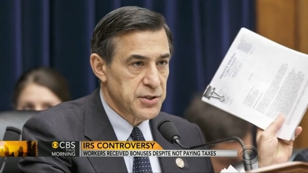 Darrell Issa talks to CBS about IRS bonus situation