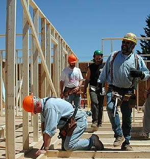 Home construction by Paul Luoma for Habitat for Humanity
