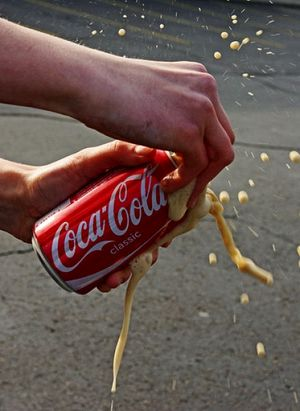Exploding Coca Cola Coke can via Izismile