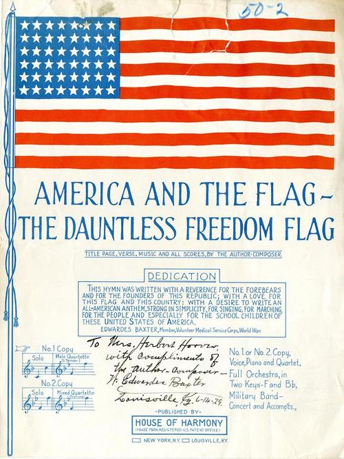 Dauntless Freedom Flag sheet music_Our Presidents Tumblr