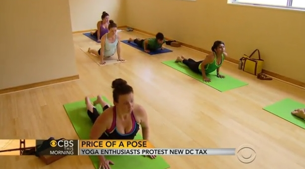 Washington DC yoga tax upsets exercise enthusiasts_CBS This Morning video