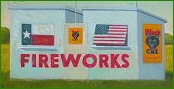 Texas fireworks stand