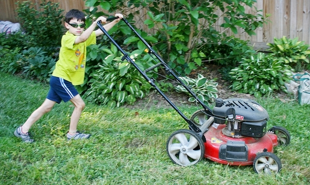 Young lawn mower by woodleywonderworks via Flickr CC