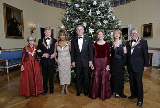 Robert Redford and other 2005 Kennedy Center honorees at White House.jpg