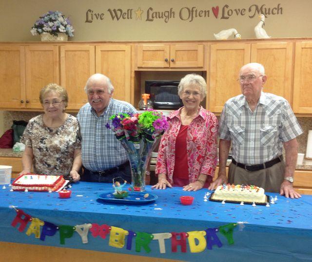 Still celebrating birthdays at the Seniors Community Center_photo by Kay Bell
