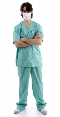 Masked surgeon in scrubs by imagerymajestic via FreeDigitalPhotos-dot-net