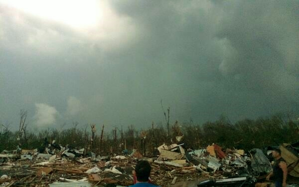 Tornado damage April 27 in Mayflower Arkansas_photo by James Bryant via Twitter