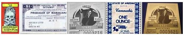 Collection of state drug stamp images