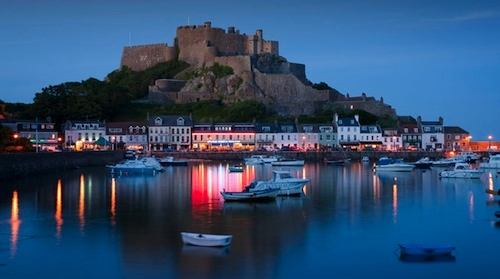 British tax haven Isle of Jersey at night via Laundelles
