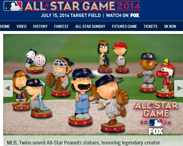 MLB 2014 All-Star Game Peanuts promotion via Major League Baseball