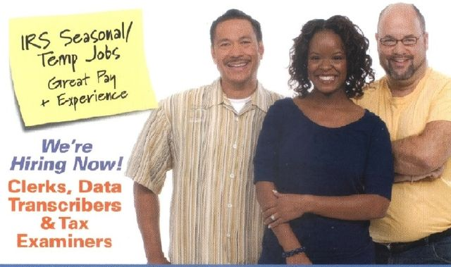 IRS seasonal jobs postcard