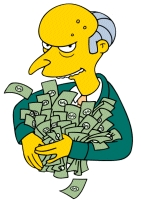 Montgomery Burns_The Simpsons money