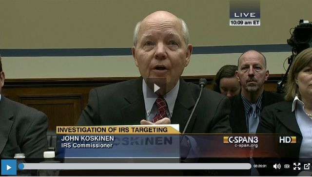 IRS Commissioner John Koskinen_House Oversight Govt Relations 032614