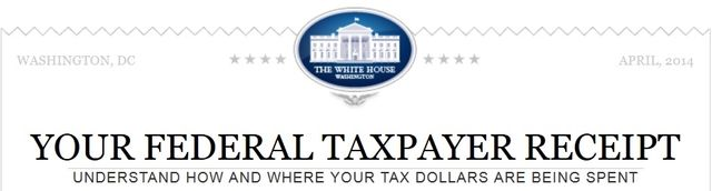 White House taxpayer receipt online calculator