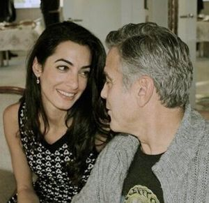 George Clooney_Amal Alamuddin via unofficial AA Facebook page