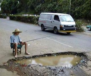 Pothole Fishing