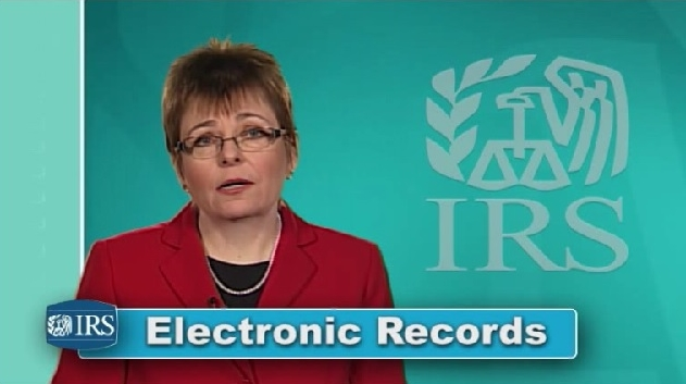 IRS electronic records video tip