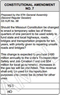 Missouri_2014_Amendment_7_transportation_tax_sample_ballot_question