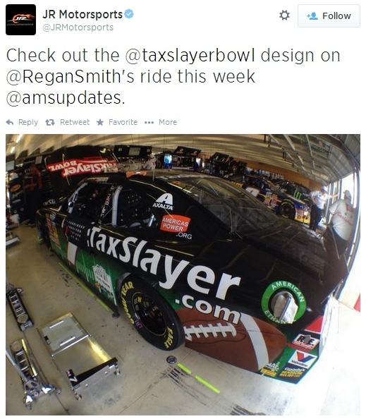 NASCAR, college football and taxes share 083014