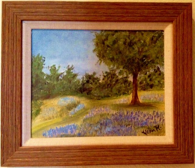 Vera K bluebonnet field original painting