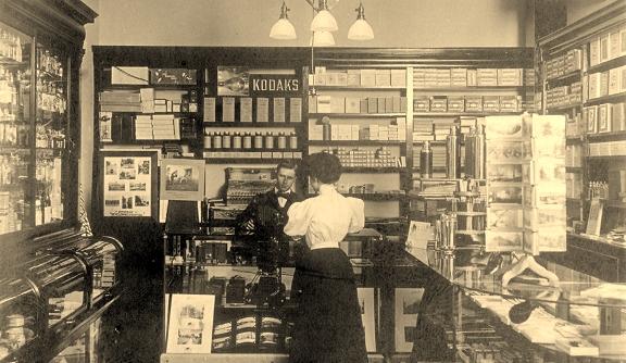 Vintage drugstore scene via lomography