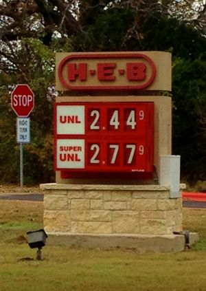HEB gas prices 2