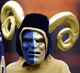 St Louis Rams fan with horns_TotalProSport