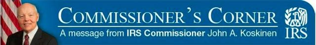 IRS Commissioner Corner banner