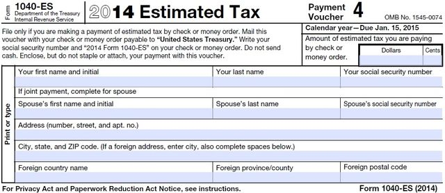 it's a new year, but time for final 2014 estimated tax payment - don