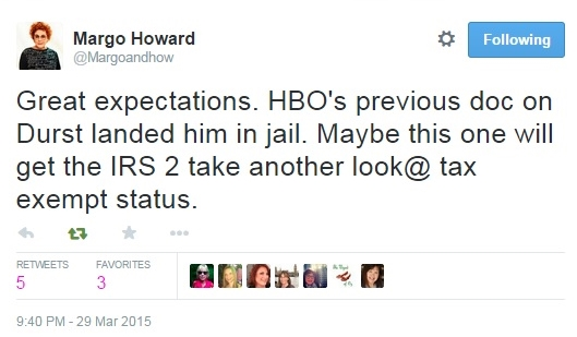 Clear Scientology documentary hopes Margo Howard via Twitter