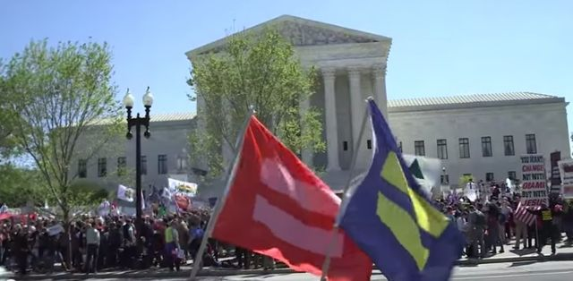 Human Rights Campaign_marriage equality rally_Supreme Court April 2015