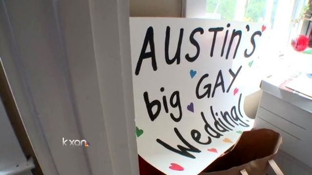 Austin Big Gay Wedding preparations via KXAN