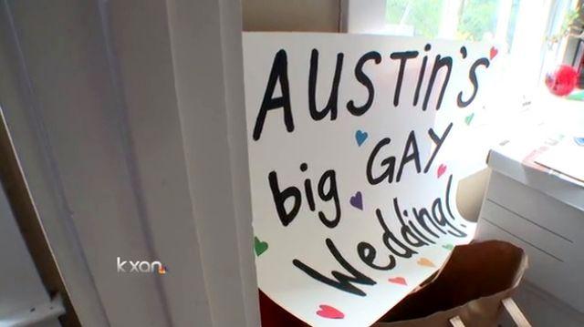 Austin Big Gay Wedding preparations via KXAN