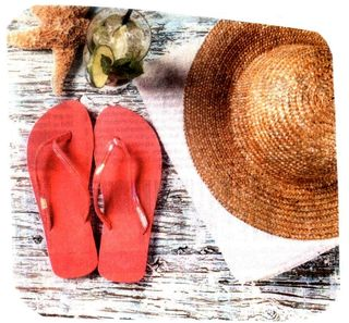 Summer beach accoutrements