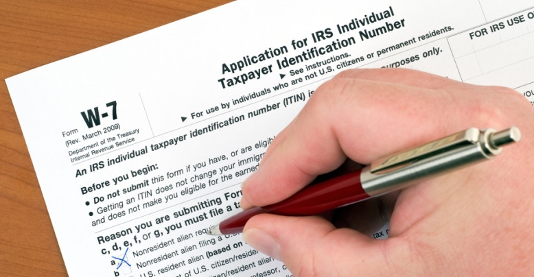Individual Taxpayer Identification Number ITIN form W-7