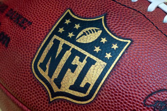 NFL football commemorating 50th Super Bowl