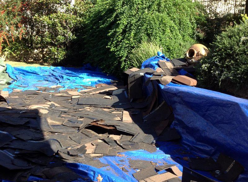 Old roof debris 120215