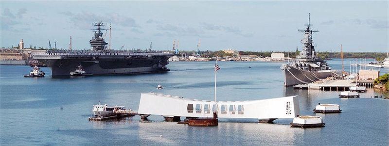 USS Arizona Memorial at Pearl Harbor in Honolulu Hawaii