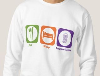 Eat Sleep Prepare taxes longsleeve pullover