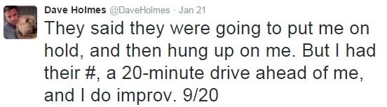 IRS phone scam Dave Holmes I do improv