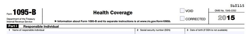 Form 1095-B health coverage statement
