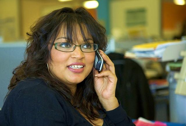 Talking on telephone_Highways England via Flickr
