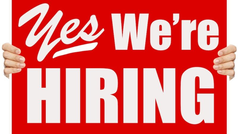 Yes we are hiring sign