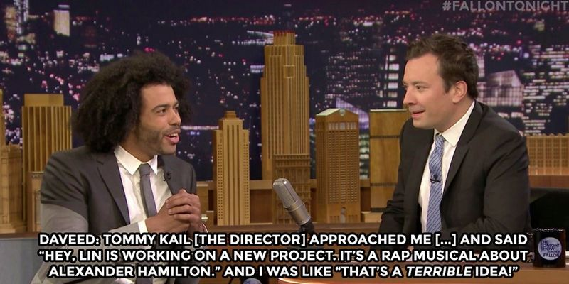 Daveed Diggs talking Hamilton and taxes on Jimmy Fallon Tonight Show