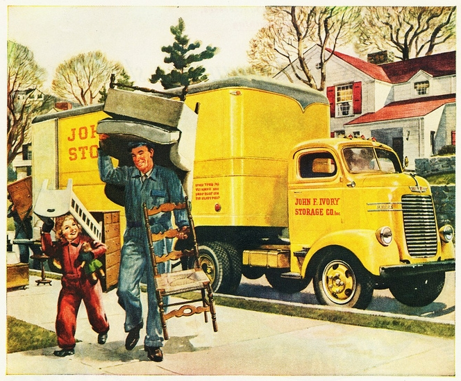 Vintage moving van ad courtesy aldenjewell flickr