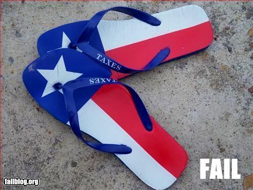 Texas taxes close enough flip flops beach