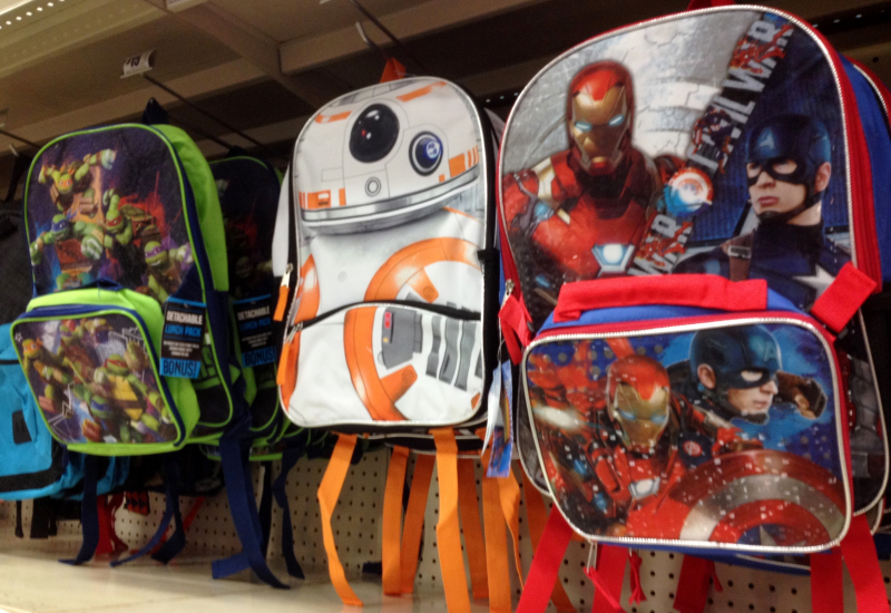 Backpacks at HEB_Texas sales tax holiday items