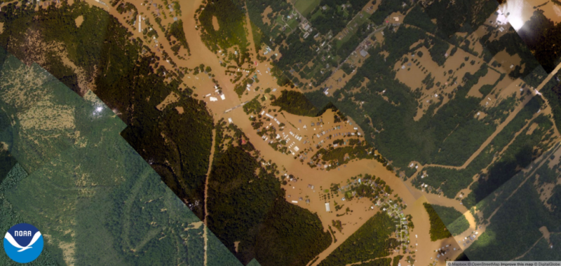 Flooding in Port Vincent Lousiana August 2016 as photographed by NOAA aviators